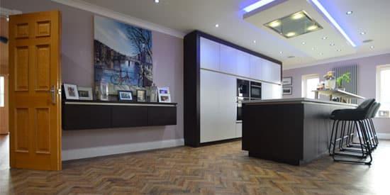 Installation of Camaro Georgian Oak Parquet Flooring
