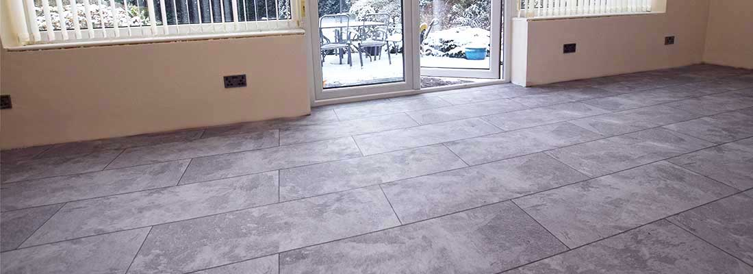 Installation of Polyflor flooring in Cheadle