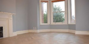 Installation of Parquet flooring in Chorlton
