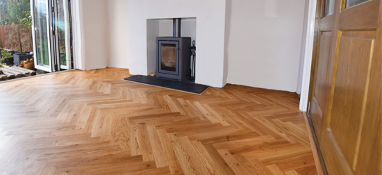 Installation of Parquet Flooring Didsbury M20