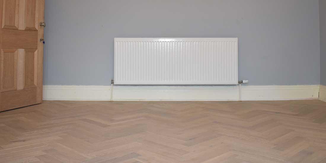 Installation of wood flooring in Chorlton