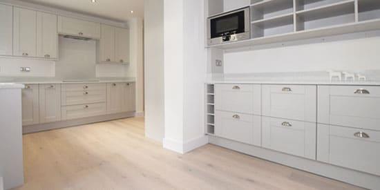 Installation of wood flooring in Horwich, Bolton
