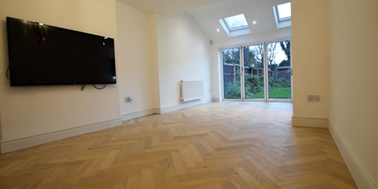 Installation of parquet wood flooring Worsley