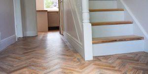 Installation of Camaro parquet flooring in Flixton