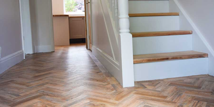 Installation of Camaro parquet flooring in Flixton