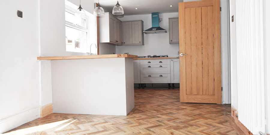 Installation of Polyflor flooring in Flixton