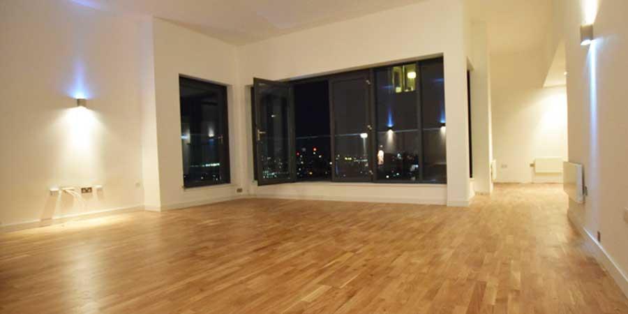 Installation of V4 Wood Flooring Manchester City Centre