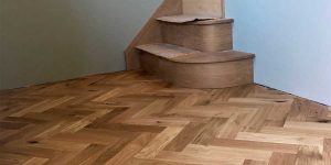 Installation of parquet wood flooring in Culceth