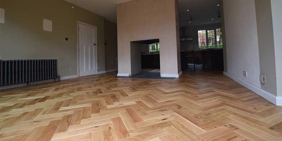 Installation of V4 wood flooring in Prestwich, Manchester,