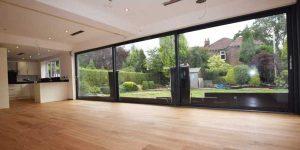 Installation of wood flooring in Bramhall