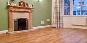 Installation of Amtico Form Rural Oak flooring in Urmston