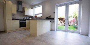 installation of luxury vinyl kitchen tiles
