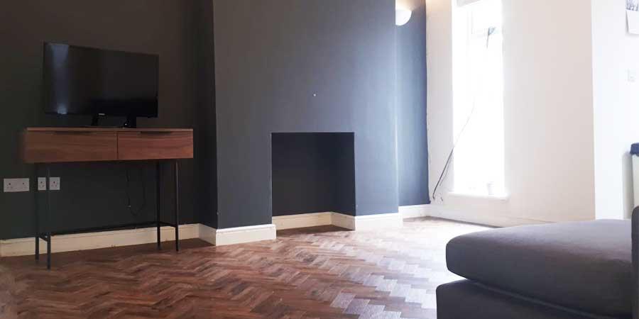 Installation of parquet flooring in Northenden