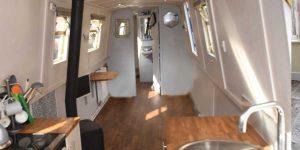 Installation of Polyflor LVT on a narrowboat flooring