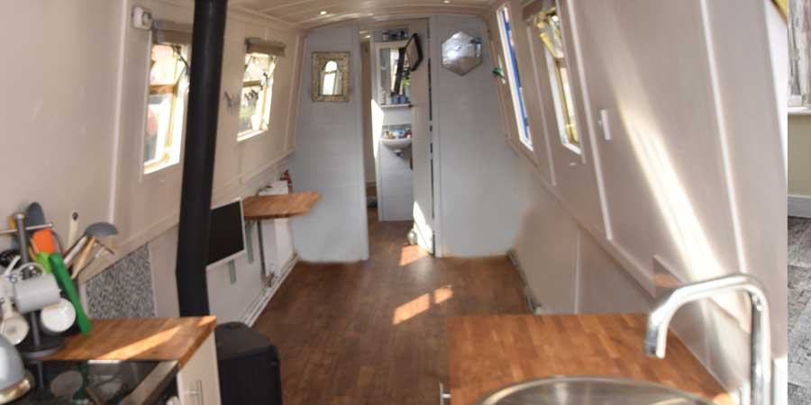 Installation of Polyflor LVT on a narrowboat flooring