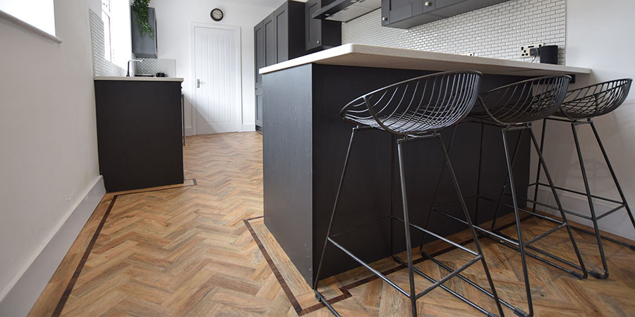 Installation of Polyflor Parquet Flooring in Timperley