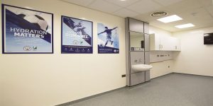 Installation of commercial safety flooring for Manchester City FC