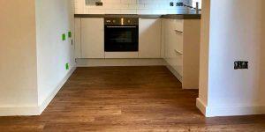 Installation of Polyflor luxury vinyl flooring in Didsbury