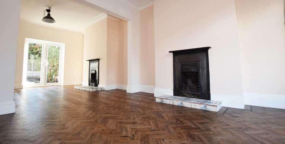 Installation of Polyflor Parquet Flooring in Stretford