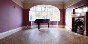 Installation of Project Floors French Oak Herringbone in Didsbury M20e