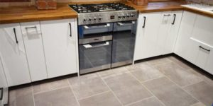Installation of Karndean Opus Fumo Tiles in Marple