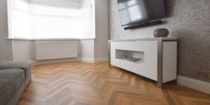 Installation of Karndean Prairie Oak Oak Parquet in Urmstom M41