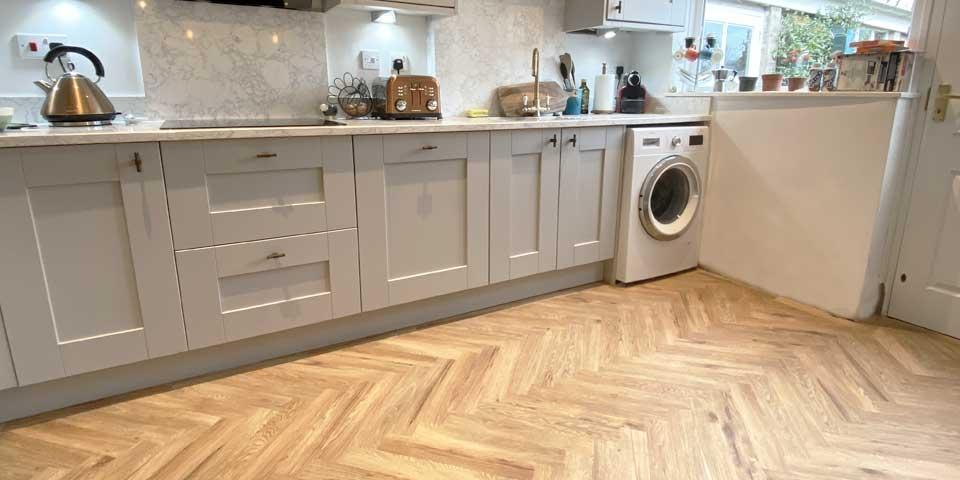 Installation of Project Floors Parquet flooring in Bramhall