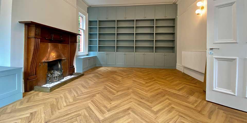 nstallation of Project Floors Classic Oak Parquet flooring in Sale, M33
