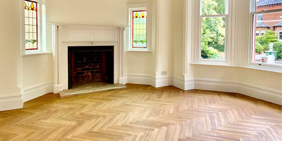 Installation of Project Floors Classic Oak Parquet flooring in Sale, M33
