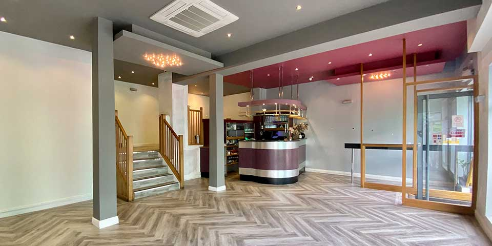 Amtico Commercial Flooring Installation, Wilmslow Road Restaurant, Manchester