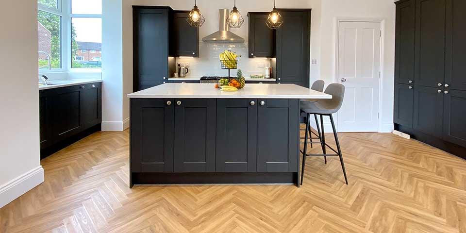 Project Floors Classic Oak Parquet flooring installation in Gatley