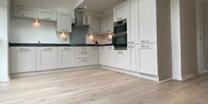 Installation of Ted Todd Dalby engineered Wood Flooring in Worsley M28