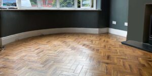Installation Karndean Morning Oak parquet in Stockport