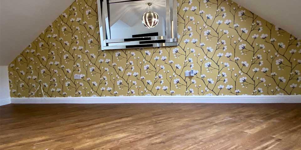 Installation of Amtico Farmhouse Oak LVT Flooring in Todmorden, West Yorks