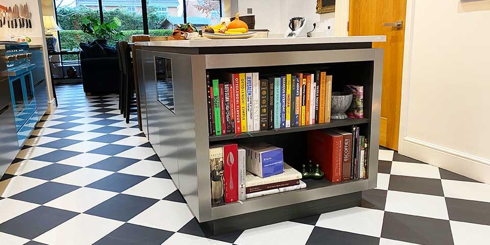 Installation of Amtico Black & White Tiles in Chorlton M21