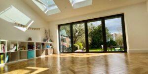Installation of Karndean Blonde Oak Parquet in Salford