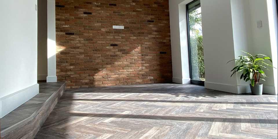 Installation of Project Floors Aged Oak Herringbone Parquet in Wilmslow